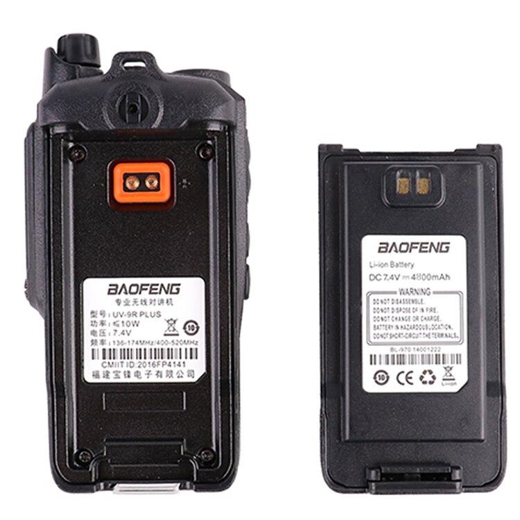 2pcs wakie talkie IP67 Dustproof Waterproof CB Radio Communicator baofeng uv-9r plus for hf 2 way ham radio kit police scanner enlarge