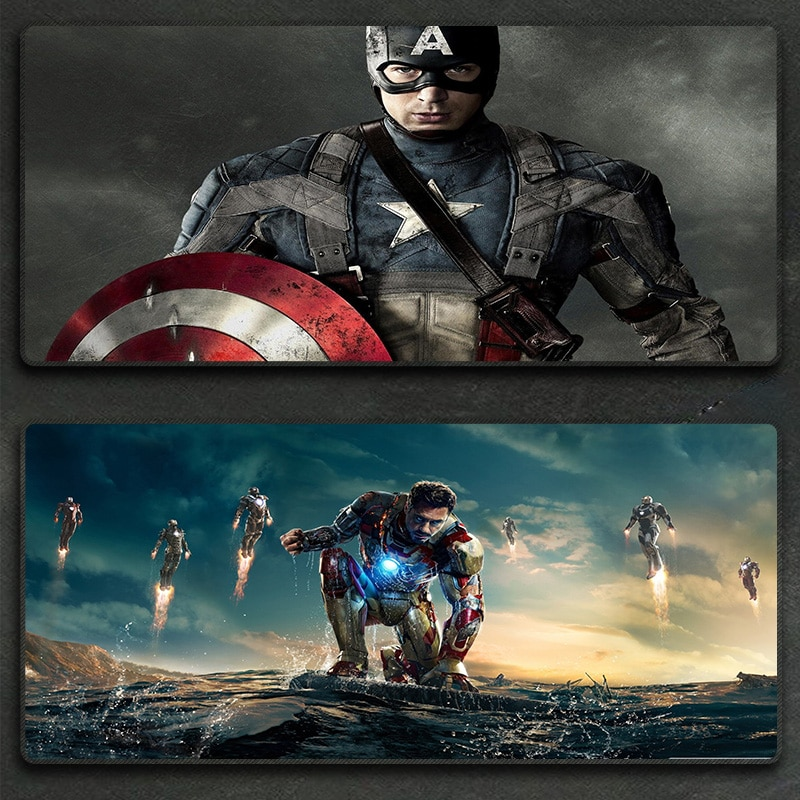 Avengers Marvel mouse pad oversized Captain America Iron Man computer keyboard pad desk pad customization enlarge
