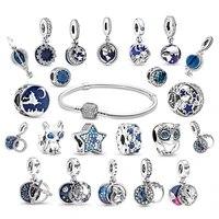 summer jewelry for women 925 sterling silver beadeds bracelets fit original pandora diy charms bijoux femme argent beads bangle