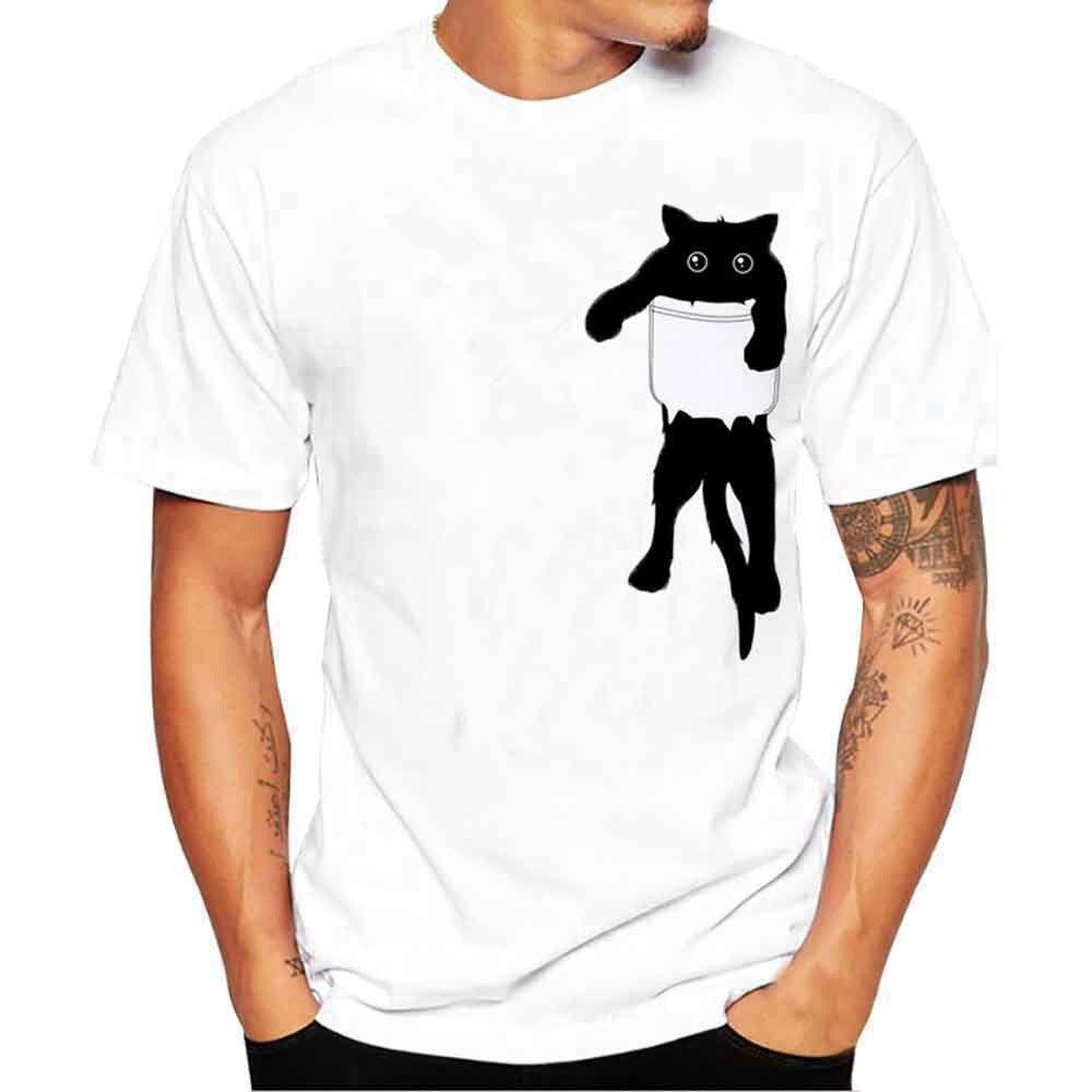 Casual Summer Top Men Printing Tees Shirt Short Sleeve T Shirt Blouse T Shirts Men Funny Linnen Shirts Mannen Big Sizes