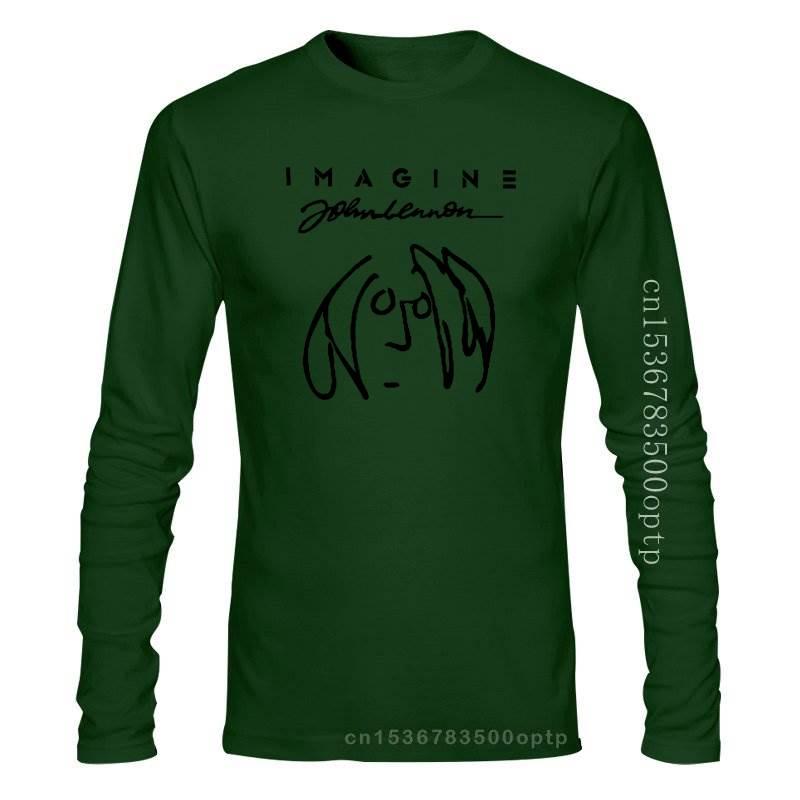 New 2021 Imagine John Lennon Short Sleeve Men T Shirt Size S 5Xl Men T Shirt Novelty O Neck Tops 031867