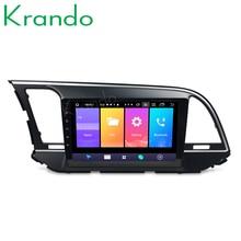 "Krando 2 + 32 Android 9.0 9 ""Ips Full Touch Auto Multimedia Systeem Voor Hyundai Elantra 2016 Radio Navigtaion speler Gps Geen 2din Dvd"