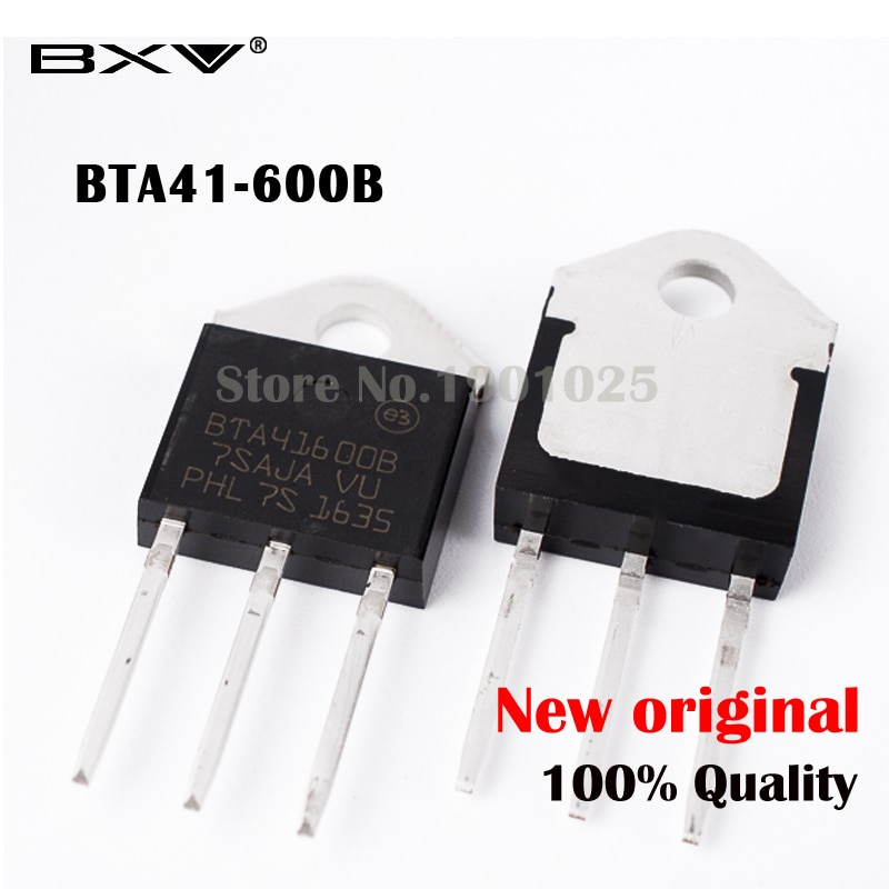5 PIÈCES BTA41-600B BTA41-600 Triac 600V 40A livraison gratuite BTA41600B BTA41600 BTA41 TO-3P 40A IC