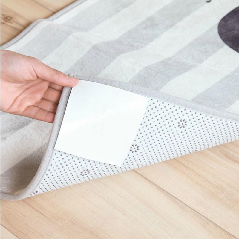 4 шт., двухсторонний липкий коврик с защитой от скольжения