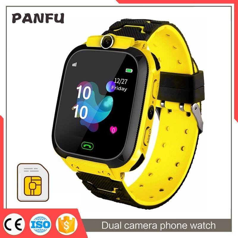 smart watch kids gps Q12s Waterproof baby SOS Positioning SIM Card Anti-lost Smartwatch children Tra
