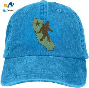 Unisex Classic Vintage California Bigfoot Dad Hat Men Women Adjustable Baseball Cap Sandwich Hat