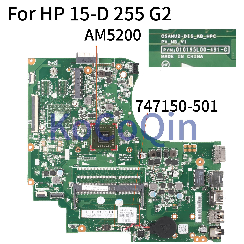 KoCoQin اللوحة لابتوب HP 15-D 255 G2 النواة AM5200 A6-5200 اللوحة 747150-501 747150-601 010195L00-491-G