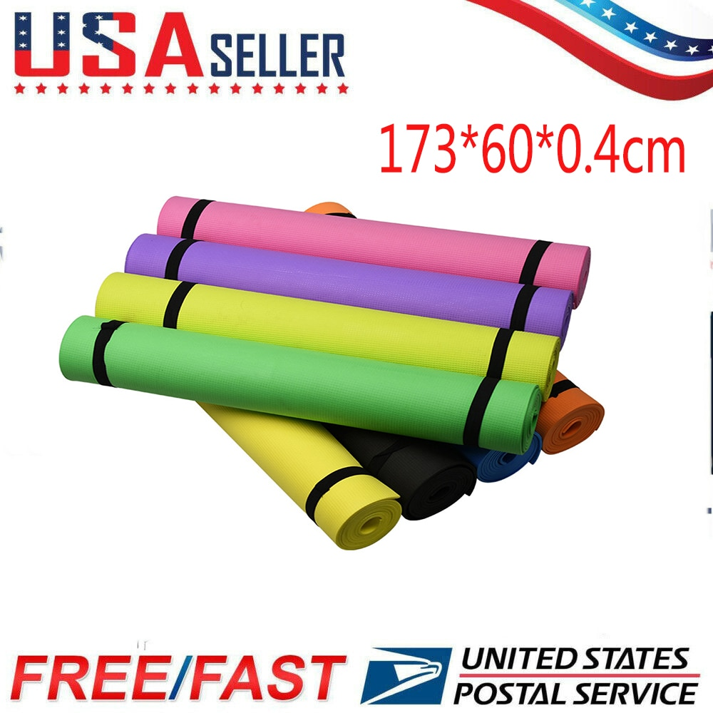173x60x0.4cm Thick EVA Yoga Mat Anti-skid Sports Fitness Mat Comfort Foam yoga for Exercise Gym Pilates Gymnastics Mats