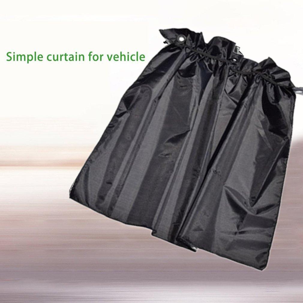 2 pçs cortina de janela lateral universal com otário copo 190t poliéster tafetá pára-sol uv proteção do carro suns bloco cortinas