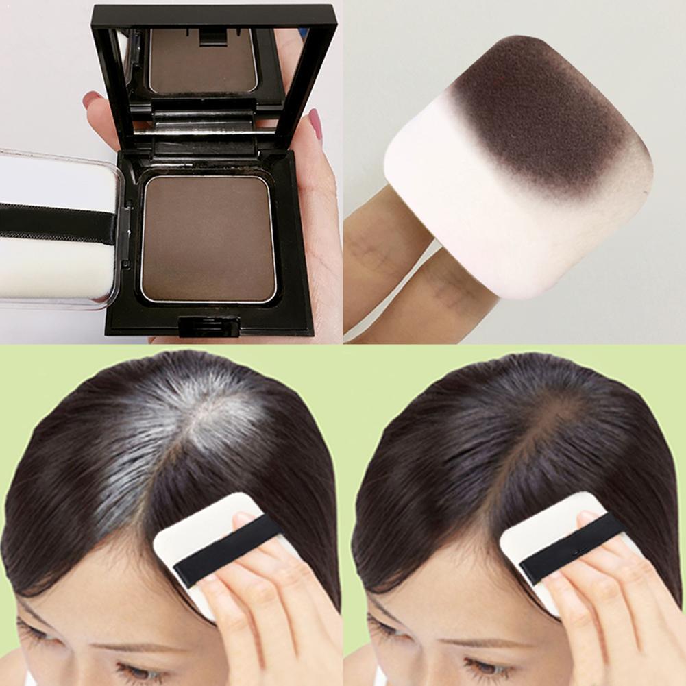 Hair powder Waterproof Hair Shadow Powder Edge Control 3 Colors Puff Makeup Line Concealer Cover Hai
