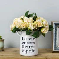 simulation bouquet hand zacharyline rose home living room decoration decoration wedding holiday party green plant flowers diy