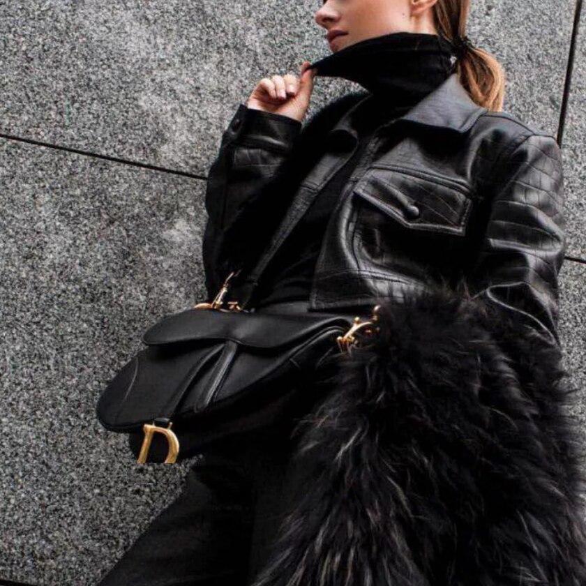 Autumn and winter new style saddle bag leather handbags women shoulder bag handbag