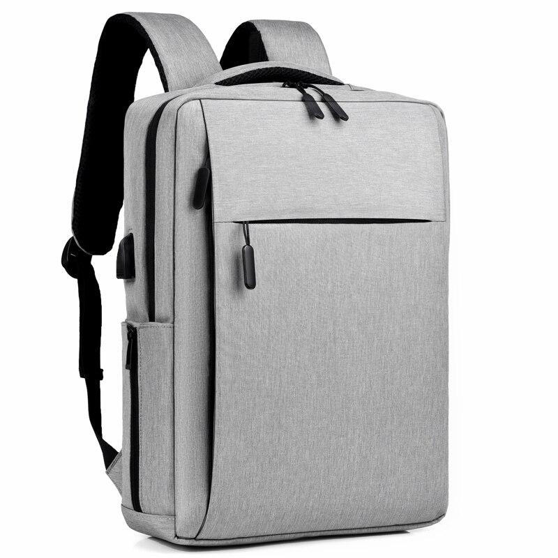 رجال الأعمال حقيبة السفر متعددة الوظائف USB شحن حقيبة لابتوب 17 17.3 بوصة حقائب الظهر حقيبة مدرسية الذكور مقاوم للماء على ظهره
