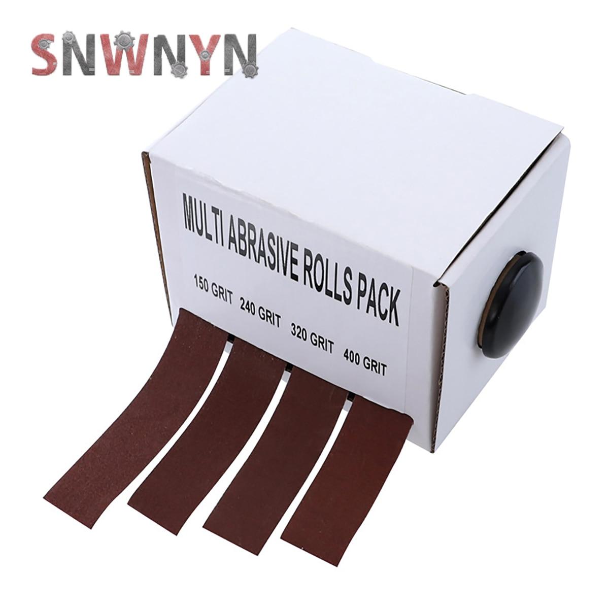 4 шт./корт. 25 мм x 6 м, шлифовальный ленточный рулон, выдвижная Наждачная ткань, наждачная бумага, шлифовальная бумага для деревообработки, шли...
