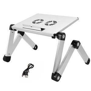 Adjustable Aluminum Laptop  Bed Tray Desk Ergonomic TV Bed Lapdesk Tray PC Table Stand Notebook With Mouse Pad Portable