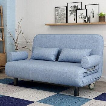 Salón mueble sofá cama moderno lavable Lino algodón marco de madera sólida relleno de esponja Natural sofá cama plegable