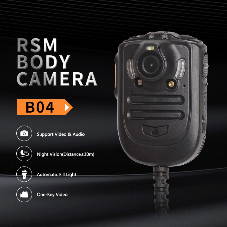Inrico B04 Walkie Talkie Wireless Microphone RSM Body Camera Infrared Night Vision PTT Mini Portable Speaker Mic Two Way Radio