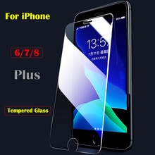mobile phone case on for iphone 6 7 8 plus tempered glass iphone6 7p 8p screen protector for apple 8