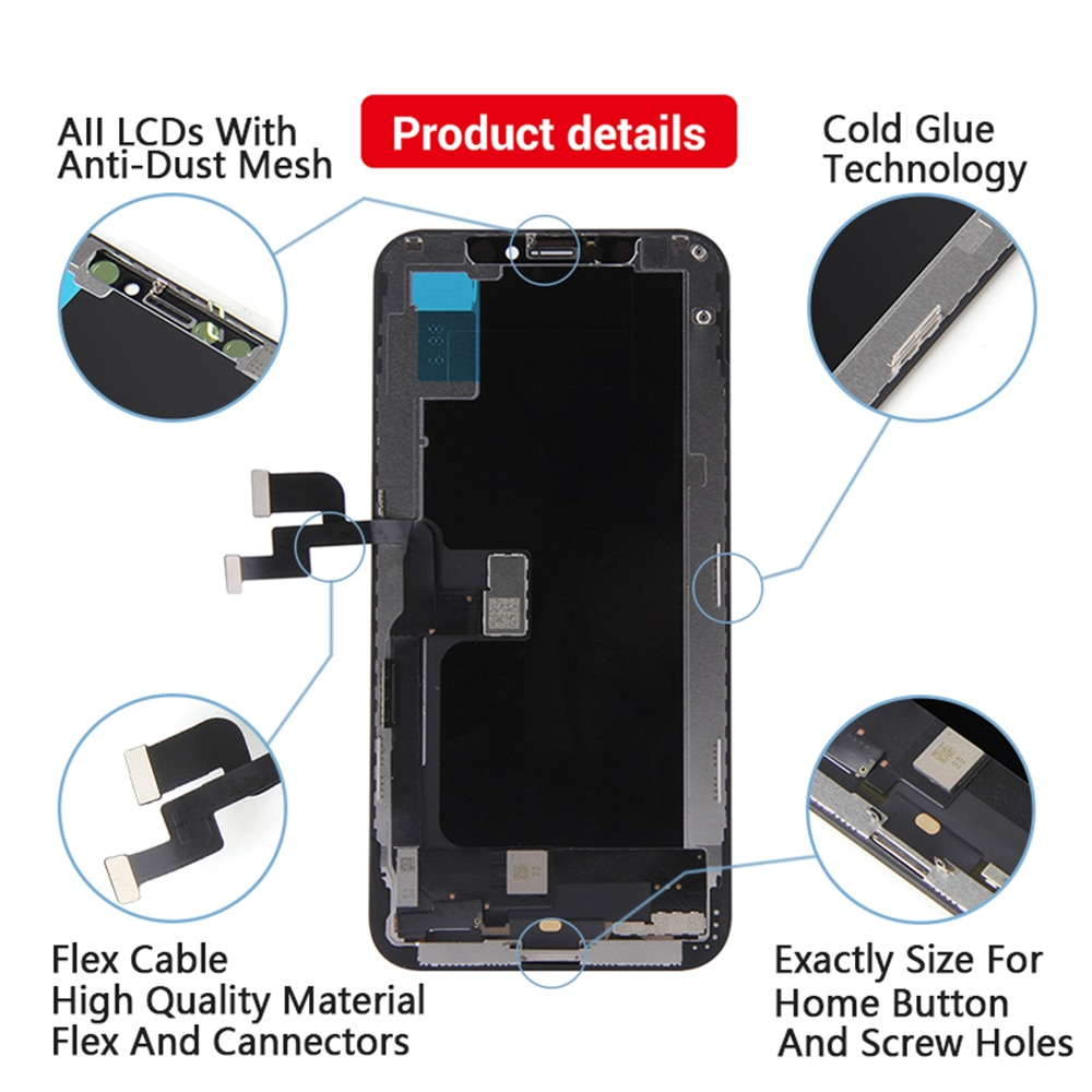 AAA+++ RJ Incell 5.8 LCD For iPhone 11 Pro Screen Display Replacement Digitizer Assembly Touch Pantalla Perfect Repair Phone LCD enlarge