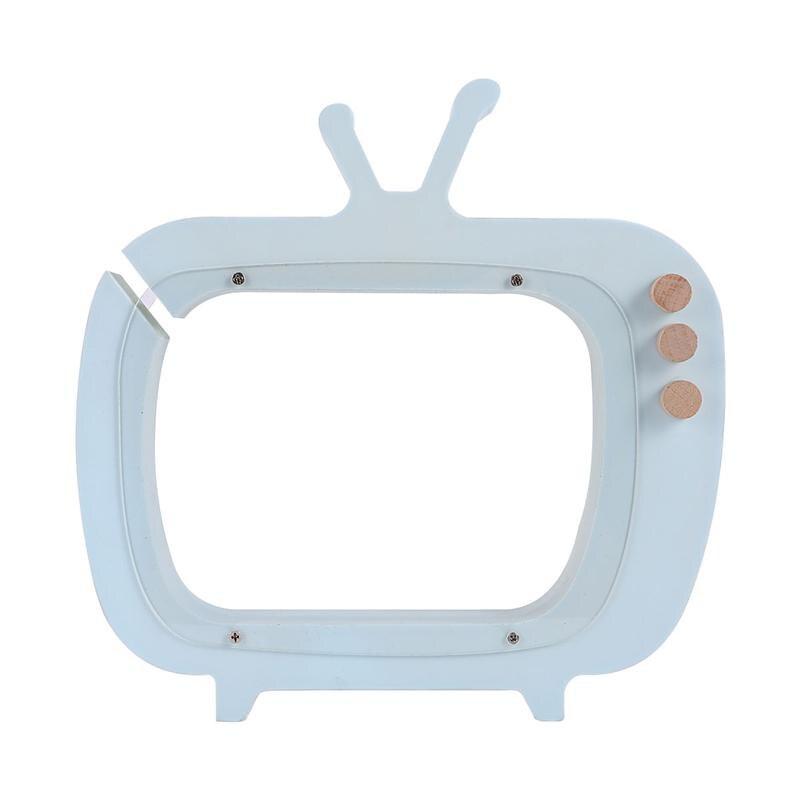 Forma de tv de madeira poupança pote crianças caixa de dinheiro brinquedo estilo nórdico fotografia adereços decoração para casa ornamento para crianças presente