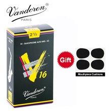 الأصلي فرنسا فاندورين V16 ألتو ساكس القصب/الساكسفون ألتو Mib-Eb القصب قوة 2.5 # ، 3 # ، 3.5 # صندوق من 10 [مع هدية]
