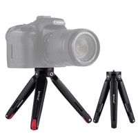 PULUZ New Upgraded Style Mini Metal Tripod Mount LEG Adjustable MINI Metal Tripod Stand Black for gopro Camera Phone Tablet