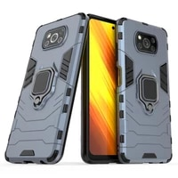 for poco x3 nfc x3 pro case anti shock magnetic ring holder back cover heay duty armor case for xiaomi mi 10t pro lite k30s
