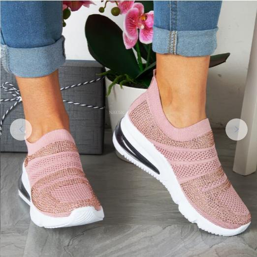 Summer Women's Sneakers Vulcanized Shoes Sock Sneakers Women Slip on Flat Shoes Women Plus Size Loaf