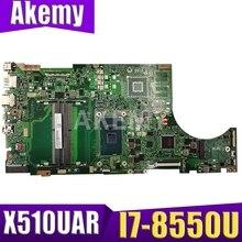 Akemy для ASUS X510UA X510UN X510UR X510URR X510UQ Laotop материнская плата X510UA материнская плата I7-8550U CPU протестированная Бесплатная доставка