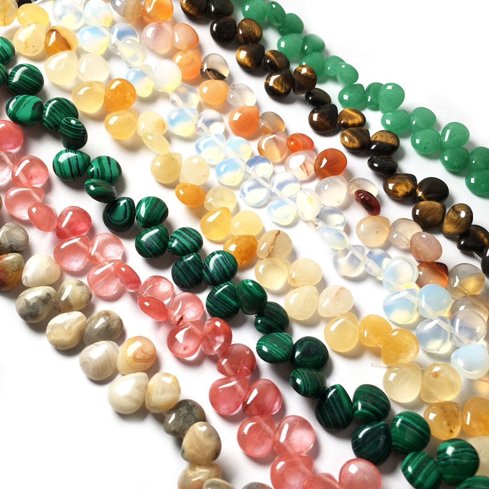 Natural Stone Agates Quartz Beads Crystal Loose Spacer Beads for Jewelry Making DIY Bracelet Necklace Accessories Gift  - buy with discount