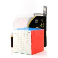 yuxin huanglong 10x10x10 magic cube professional game speed smooth cubes exercise brain adult puzzle high difficulty toy