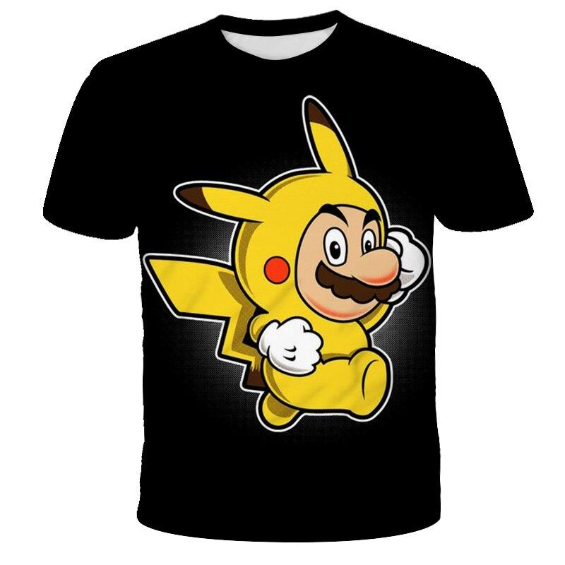 AliExpress - 2021 Fashion Cartoon Super Mario 3D Print Breathable T-shirt Children Summer Cute Anime T-shirt Boy Girl T-shirt Casual 4T-14