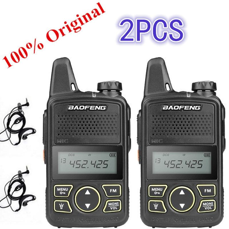 2 шт Baofeng BF-T1 мини иди и болтай Walkie Talkie UHF Портативный двухстороннее Радио BF T1 Ham Радио портативное FM трансивер Walkie Talkie двухстороннее радио для ...