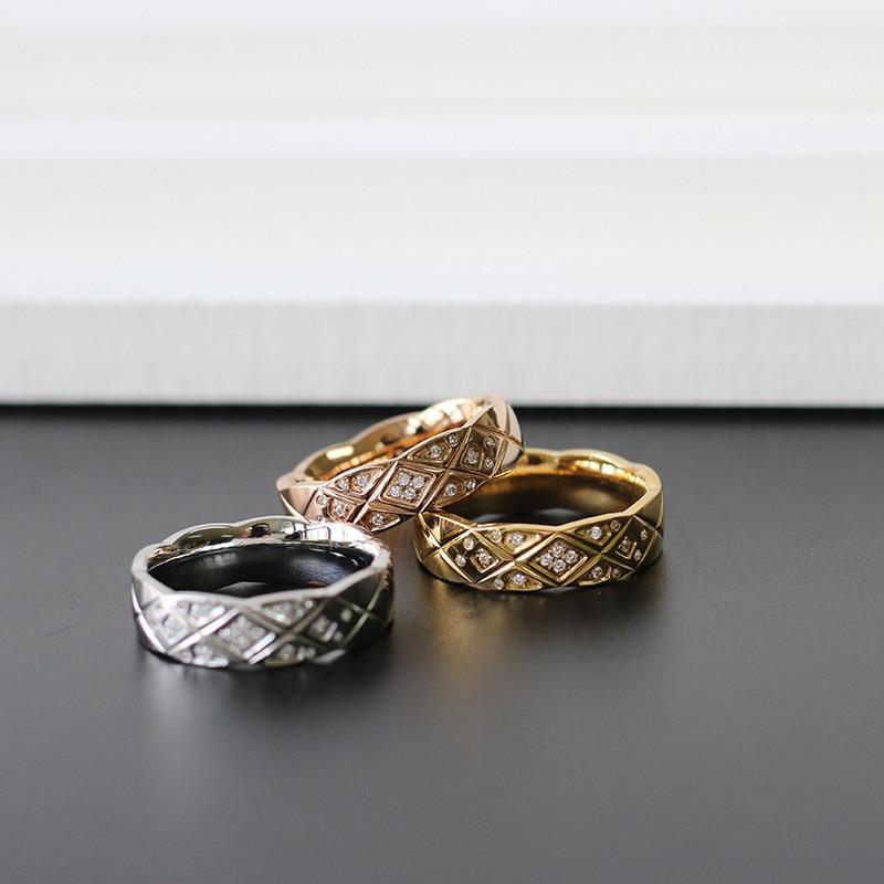 Amaiyllis 18k ouro micro pave clássico cz zircão anel de ouro prata índice dedo anéis para presente de jóias femininas