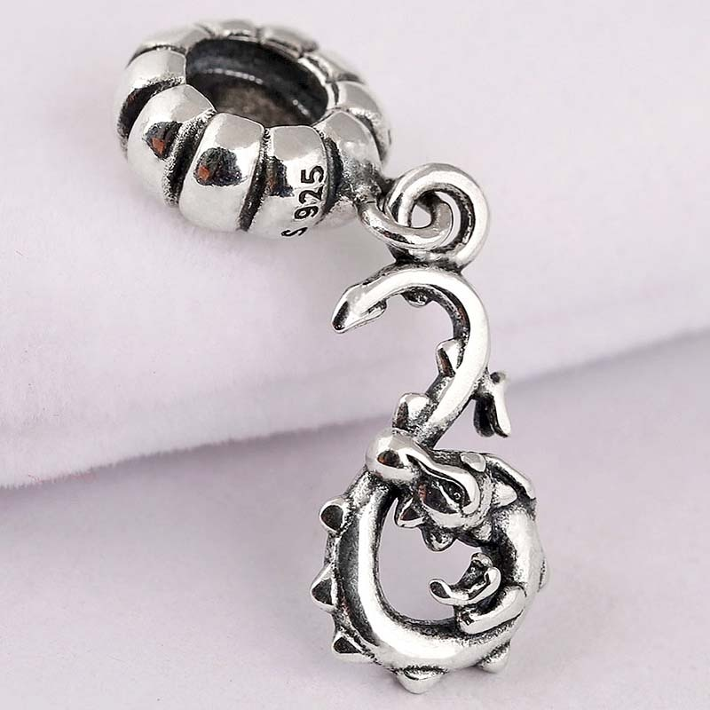 Original Vintage Cute Chinese Zodiac Dragon Pendant Beads Fit 925 Sterling Silver Bead Charm Pandora Bracelet Diy Jewelry