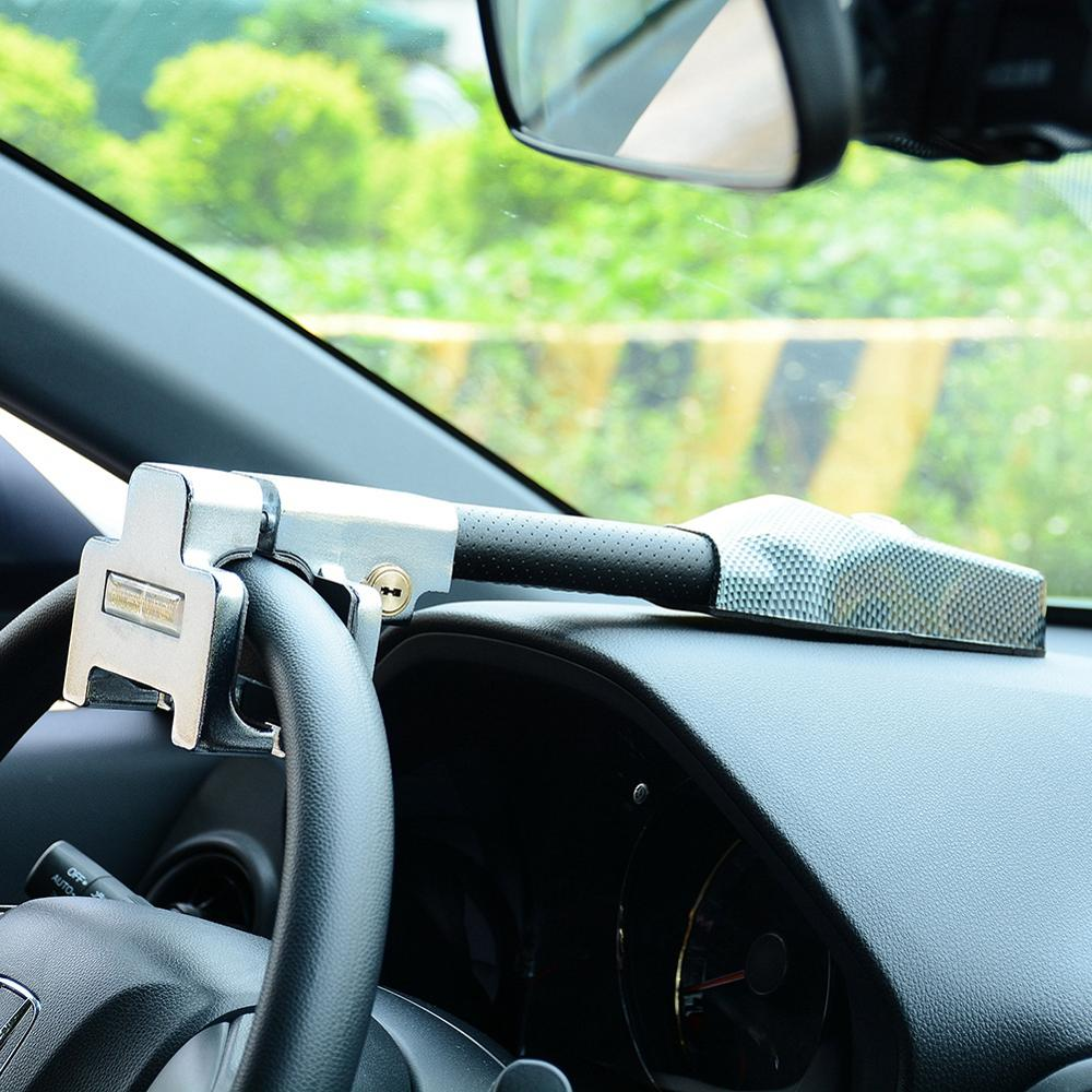 Car Steering Wheel Lock Universal Anti Theft Safety Alarm Lock Retractable Security Car Locks Auto A