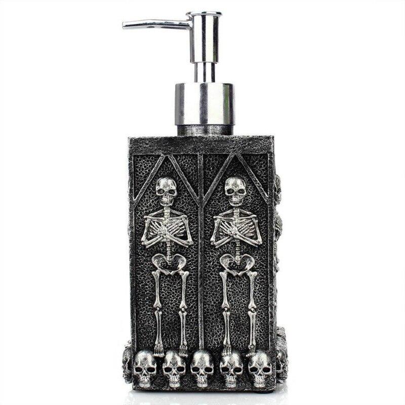 Dispensador con bomba de jabón de Calavera, decoración de Festival para el hogar, dispensador de jabón de manos espumoso, botellas desinfectantes para manos vacías fantasmas con bomba