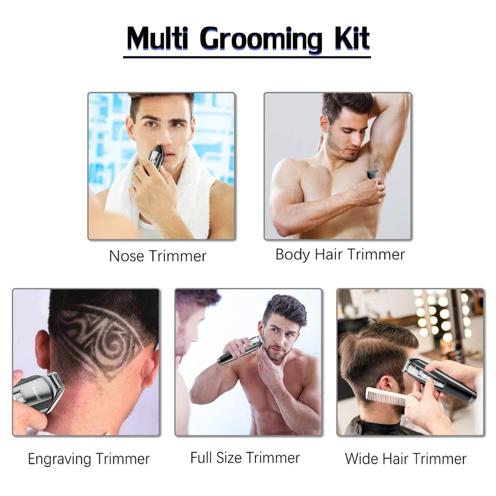 All in one men's grooming kit hair trimmer professional facial body shaver electric beard hair clipper for men cutting machine enlarge
