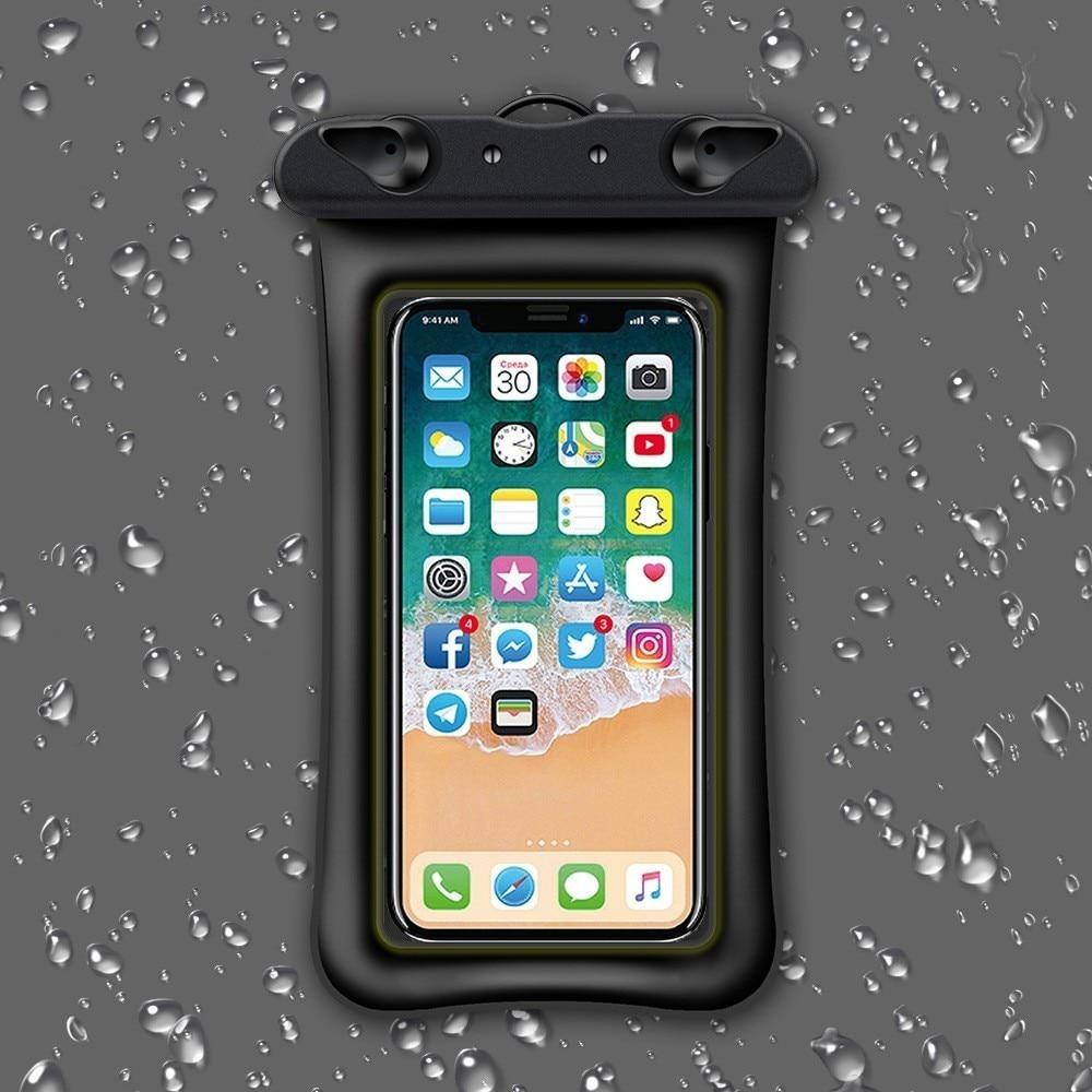 Поплавок водонепроницаемый мобильный телефон чехол для iPhone X Xs Max Xr 8 Samsung 6,5 Дюймов прозрачный ПВХ герметичный подводный смартфон сухой Чехол