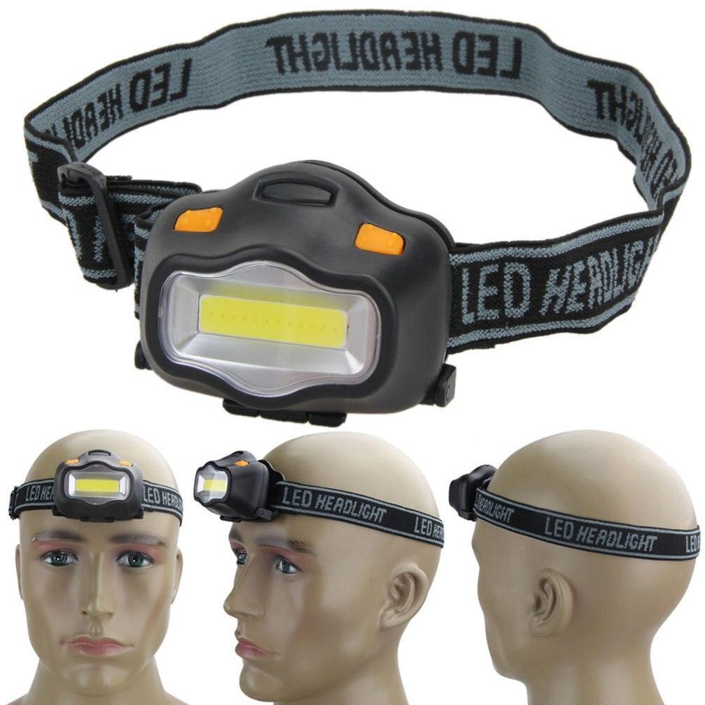 Blanco y Negro impermeable Ultra brillante 12 luz LED de lámpara frontal linterna faro 3 modos para Camping al aire libre