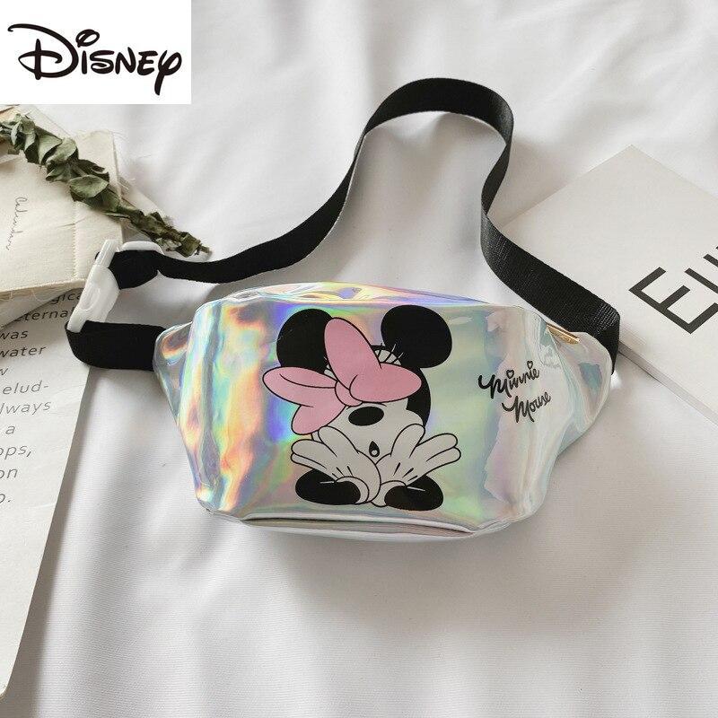 Bolsa da Cintura das Crianças Moda dos Desenhos Bolsa de Cosméticos Nova Disney Lantejoulas Laser Mini Crossbody Bolsa Animados Minnie Multifuncional Menina 2021