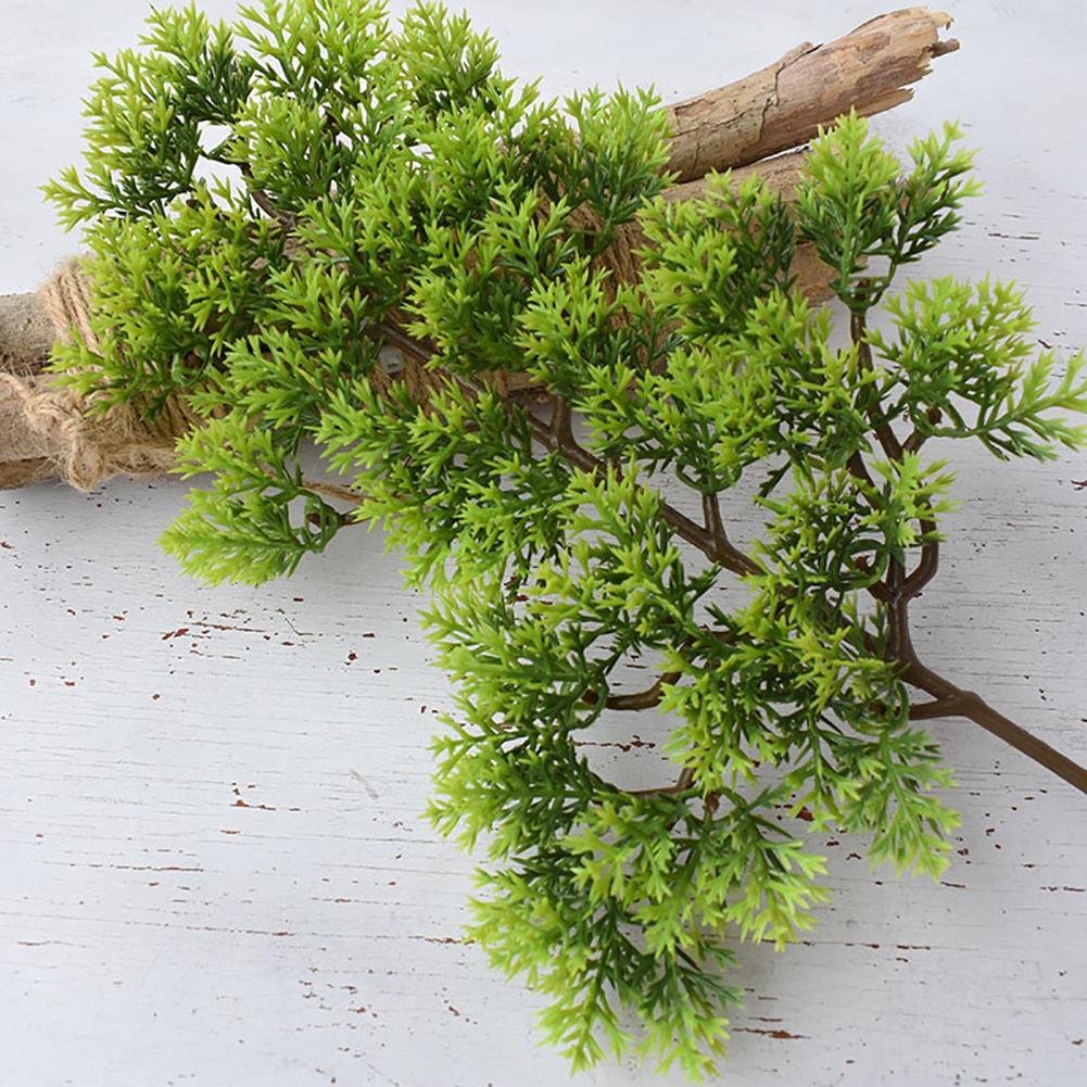 뜨거운 판매 1Pc 플라스틱 가짜 인공 소나무 노송 나무 공장 분재 정원 홈 오피스 장식