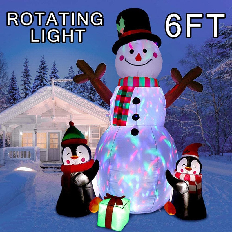 Holiday Lighting Christmas Inflatable Model Christmas Snowman Led Light Christmas Decorations for Home Garden Outdoor Decoration