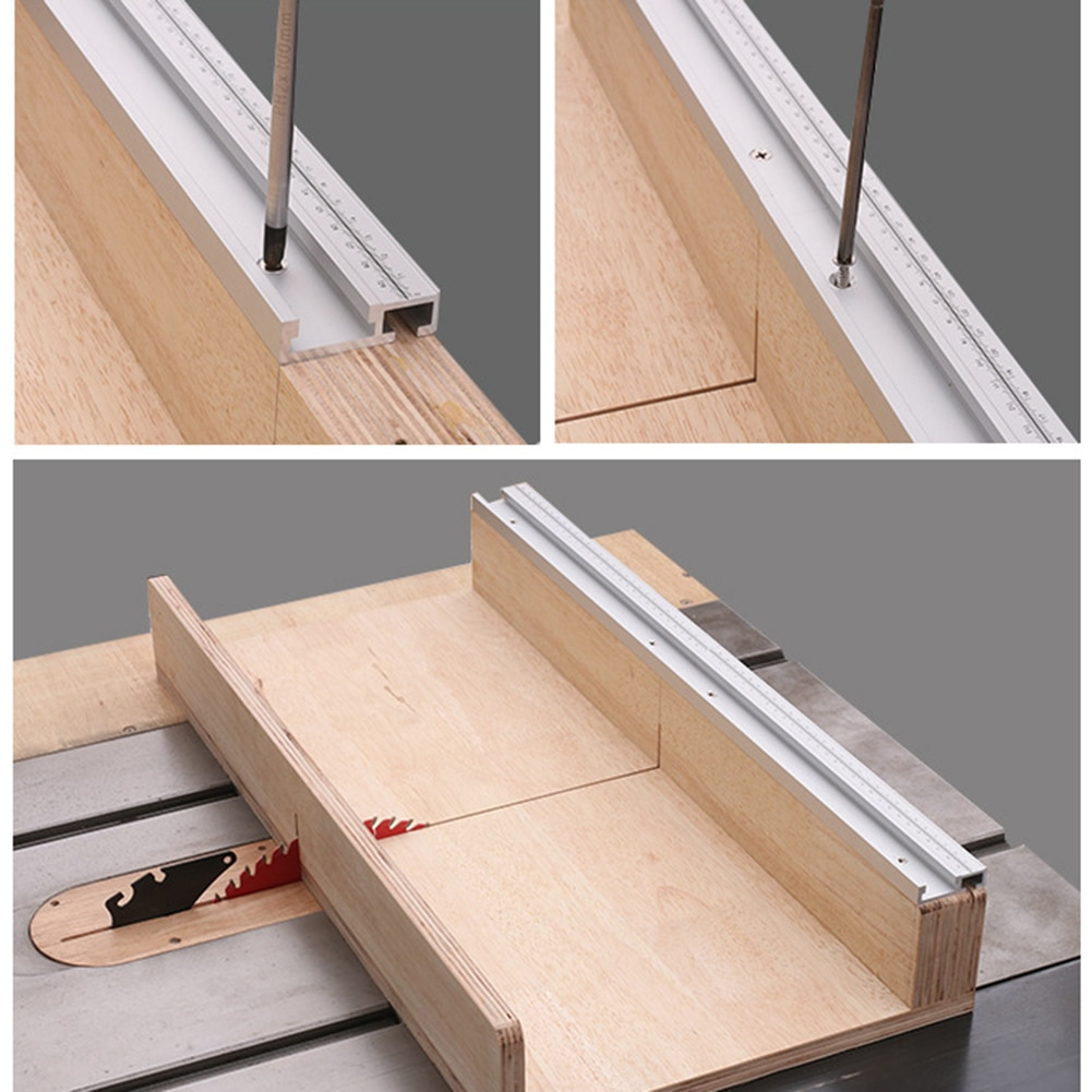 T-slot Chamfered Track DIY Woodworking Tool Oblique Cut Flip Rail Stopper for 45mm T-shaped Rail with Adjustable Scale