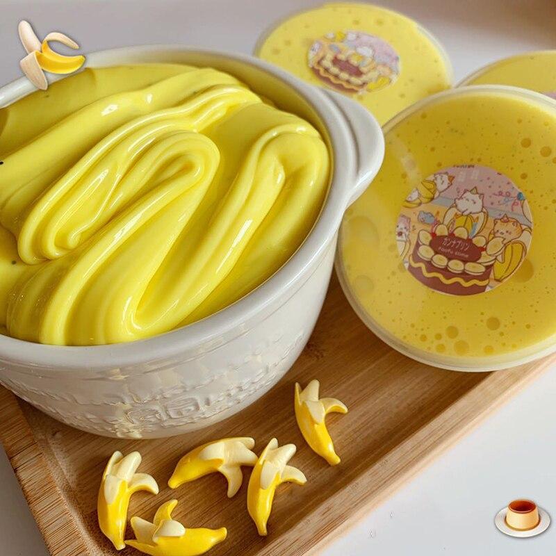 Boxi 150ml Banana Floam limo juguetes nuevo lindo Anti-estrés educación Kawaii amarillo suave blandiblú transparente regalo de cumpleaños para los niños adultos