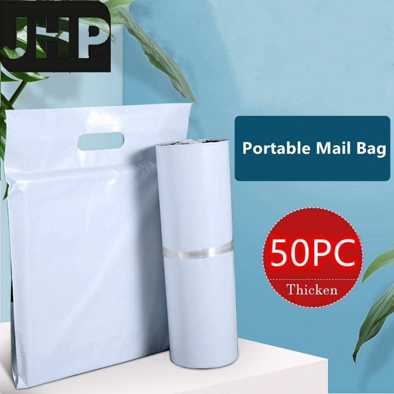 50PC Portable Self-seal Mailer Bag,Sturdy Thickened Self Adhesive Post Mailing Package with Handle