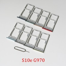 SIM Card Tray Slot For Samsung Galaxy S10e G970F G970 Original Phone New SIM Chip Micro SD Card Tray