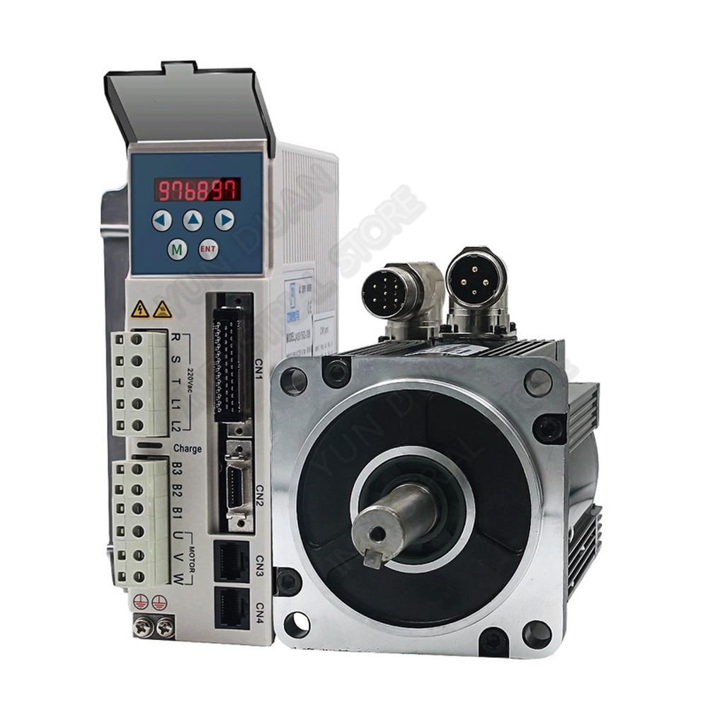 1.3KW Multi-giro absoluto codificador 23Bit Servo 4.2Nm 110mm 220V 1HP/3PH AC Servo Motor de 3000RPM conductor Kits 1300W para CNC Robot