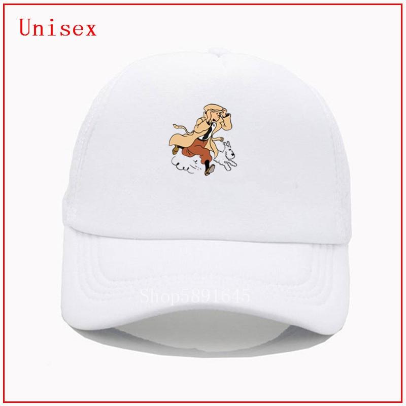 Tintin e seu cão as aventuras de tintin chapéus para as mulheres de alta qualidade personalizado printne preto vidas matter hat malha legal chapéu