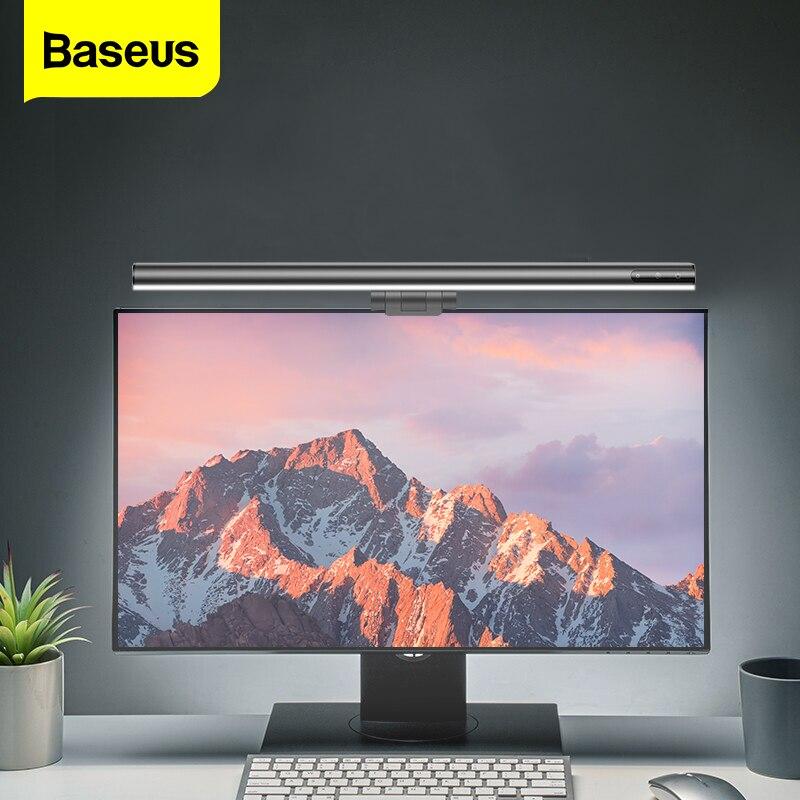 Baseus-مصباح مكتبي لشاشة LCD ، مصباح معلق جديد لشاشة الكمبيوتر ، مناسب للدراسة ، الكمبيوتر المحمول ، USB